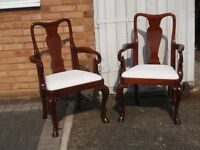pair of mahogany carver chairs, superb condition