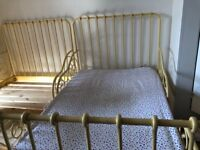 Pair of Kids iron/metal ikea extendable beds