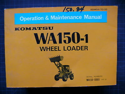 Komatsu 150-1 Operationmaintenance Shop Manual Guide