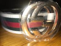 Brand New White Gucci Belt Size M