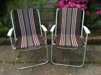 vintage retro deckchairs