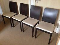 Habitat Ruskin Oak Dining Chairs x4