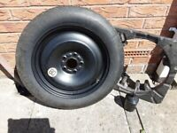 Spare wheel and tyre, unused space saver Ford Focus