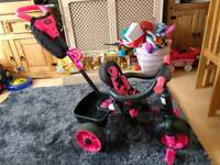 Little tikes 4 in 1 deluxe trike pink and black