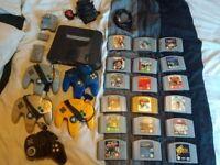 N64 Nintendo 64 Bundle - 5 controllers, 18 games, accessories