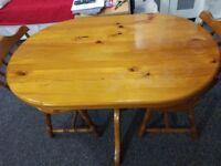 Dining Set Solid Wood Dining Table & Two Chairs (capacity of 4 seats), Cushions - Reduced to Sell