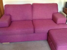 For Sale Two SOFAS and Storage Footstool