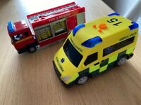 Free! Rescue Vehicles with Lights and Sound
