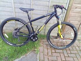 VOODOO BIZANGO 29ER BLACK MAGIC CULT DEORE GROUPSET 27 SPEED AIR SUSPENSION FORKS MINT CONDITION