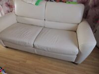 sofa bed genuine leather in excellent condition
