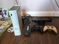 Xbox 360 +Kinect + 2 x wireless controllers ,+120gb Hardrive . Excellent condition
