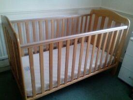 Babys Wooden Cot
