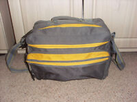 Grey and Yellow Travel Bag