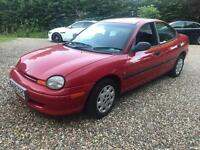 98 Chrysler Neon Automatic Mot n taxed drives perfect £300 no offers