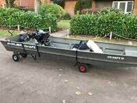 12' aluminium polar craft / Jon boat fishing