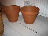 Two large Terracotta Flowerpots (as new)