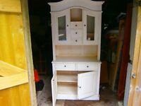 White painted dresser, Shabby chic ! measures 194cm high 92cm wide 40cm deep.