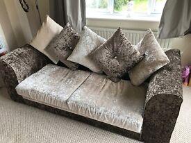 Sofa velvet crushed