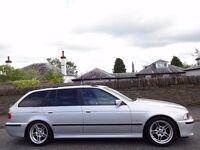 12 MONTH WARRANTY! (53) BMW 525 M SPORT Auto Estate- Black Leather- 90k Miles- Extensive BMW History