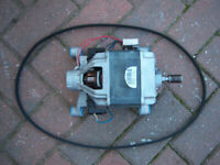 GORENJE WASHING MACHINE MOTOR & BELT + NEW BRUSHES model WA60125