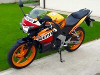 STUNNING 2013 CBR125R REPSOL YZF R125 UK DELIVERY