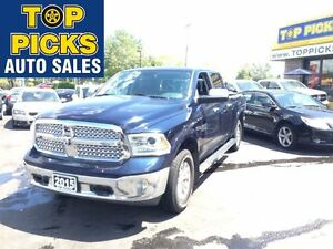2015 Ram 1500 LARAMIE, ECO DIESEL, LEATHER, NAVIGATION!