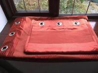 Bedeck fully lines eyelet curtains RRP over £150 Red/Deep Orange colour