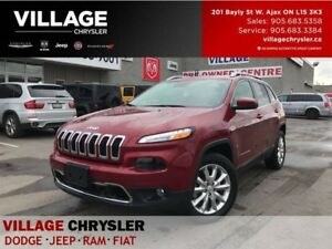 2017 Jeep Cherokee Limited|4X4|Tech Grp|Nav|Leahter|Memory and V