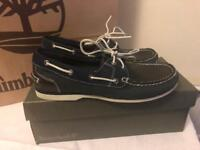 Brand new Timberland navy boat shoes size 6.5