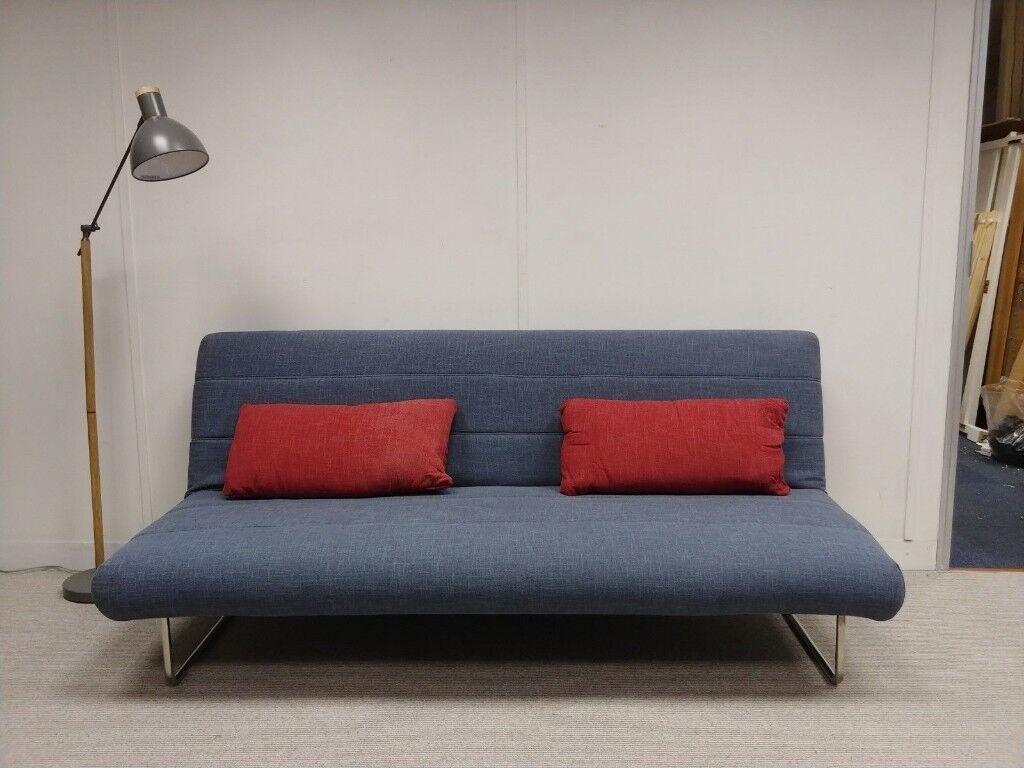 Arica M3 British Sofas Three Seater Sofa Bed In Blue