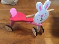 Wooden ride on Bunny trike - for toddlers