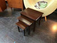Rosewood Nest of Tables. Retro Vintage Mid Century