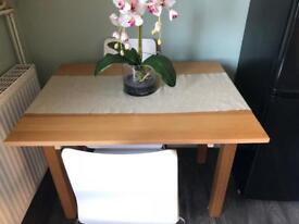 IKEA wooden extendable table and chairs
