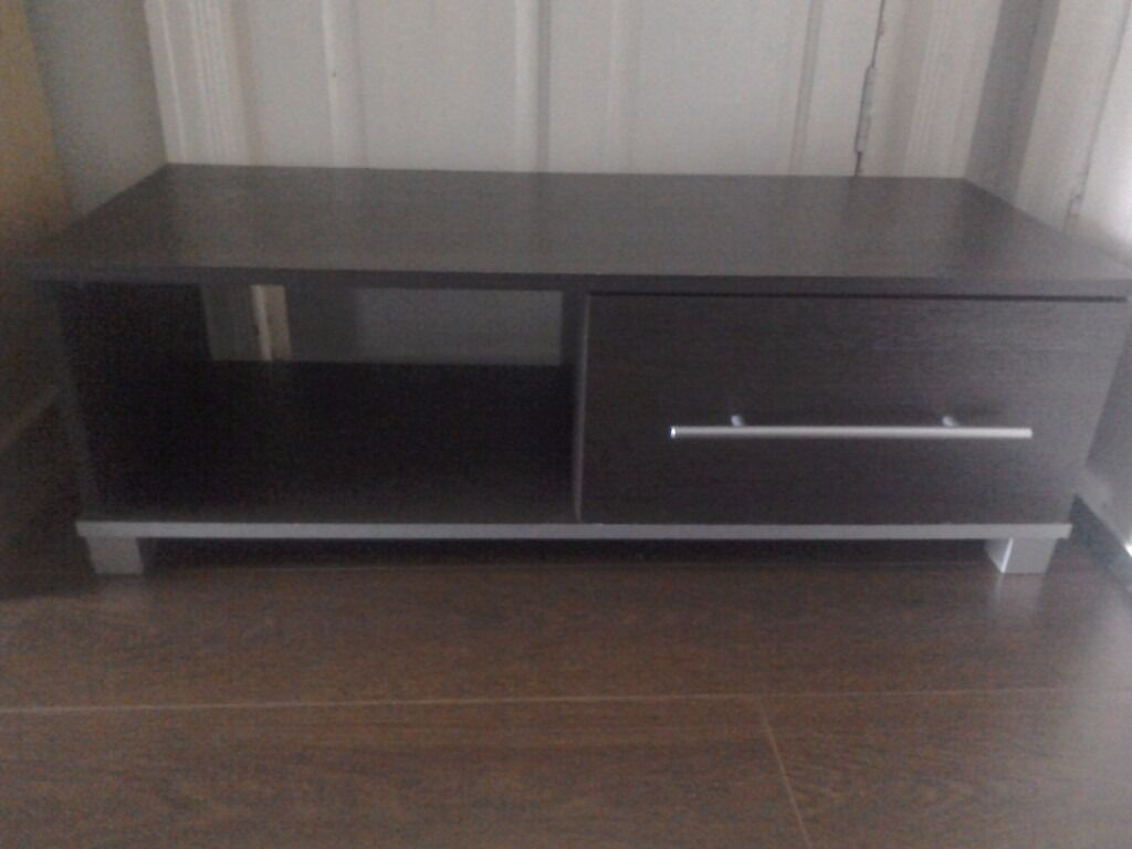 Wenge Living Room Furniture Minsk Tv Unit Wenge Effect Unit With Compartment And Drawer Tv