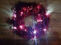Red Led Christmas Wreath