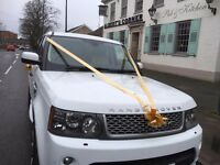 Chauffeur and Range Rover Sport Hire for Weddings, Civil Ceremonies, Prom Nights, Airport Transfers