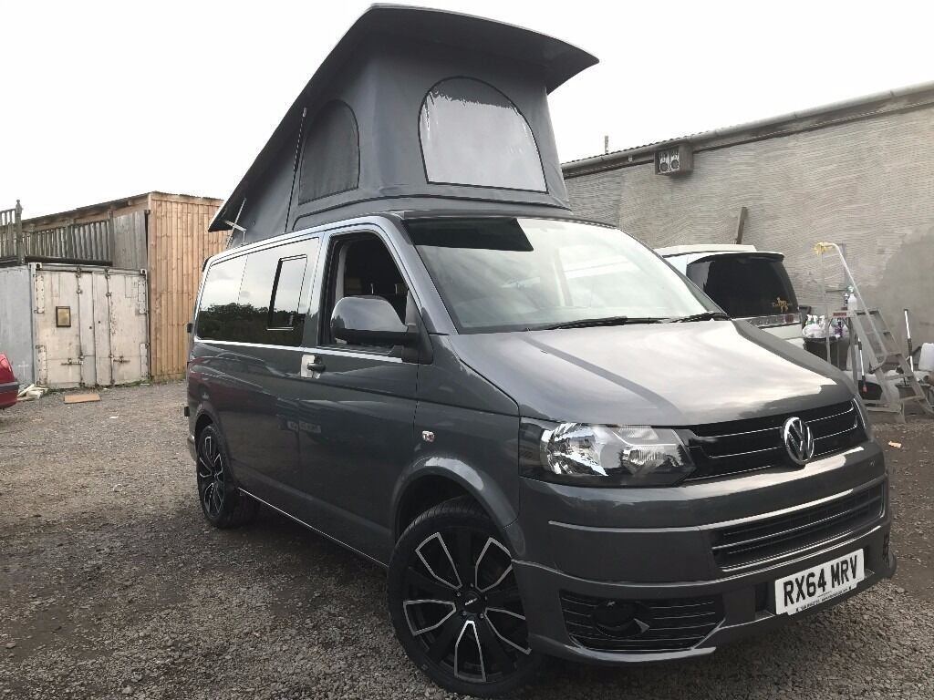 2014 vw transporter t5 1 pop top 4 berth new conversion 2td 6 seater campervan