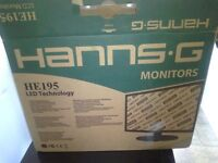 """hanns 18.5"""" lcd widescreen pc monitor boxed and unused"""