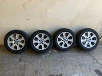 "BMW 16"" INCH ALLOY WHEELS & TYRES"