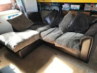 10 month old corner sofa. Can deliver