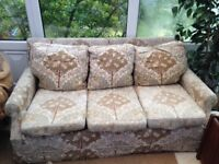 FREE comfortable but well-worn 3 seat sofa