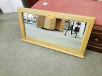 Solid pine wall mirror