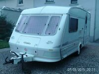 elddis hurricane 95 2 berth with end wash room fule size awning and extras