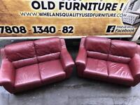2 2 seater sofa in tan leather,mint mint condition £250
