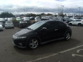 2007 07 HONDA CIVIC 1.8 I-VTEC TYPE-S GT I-SHIFT 3D AUTO 139 BHP **** GUARANTEED FINANCE ****