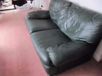High quality 2 seater leather settee