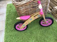 Girls balance pink bike in excellent condition