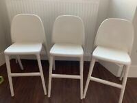 White IKEA Urban high chair for kids £17 each (we have 2 left) also great for garden