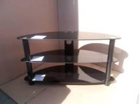 Brand new black glass TV corner unit RRP £60