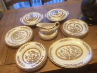 Vintage china dining set Washington Indian tree